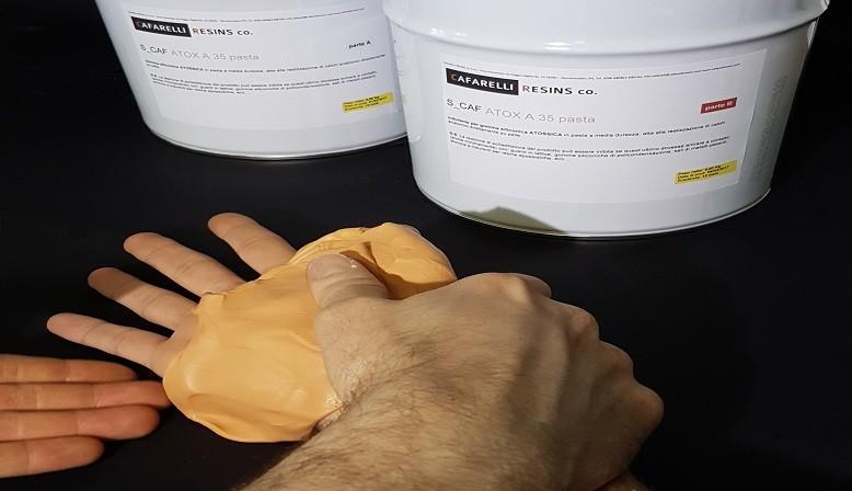 Gomma siliconica atossica in pasta